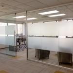 Sliding glass door with soft open/close mechanism