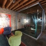 View Series Glass Wall Office with Sliding Frameless Glass Door