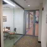 Glass meeting room with sliding door - View series