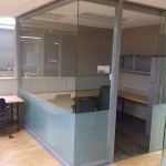 Open corner glass offices - Higher Education