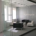 Sliding frameless glass door with barpull (View Series)