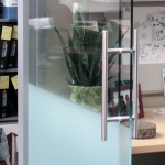 Sliding glass door detail three-eighths-inch view series