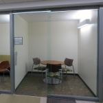 College University glass wall meeting rooms