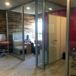 View Series glass office fronts with Flex Series custom clerestory sidewall