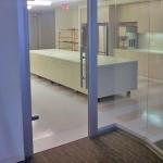 Glass swing door and View Series glass angled corner