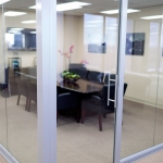 View series Conference room glass office with swing glass door