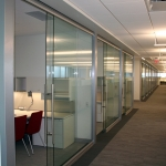 View series glass office fronts at NAIC Central Office