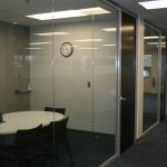 View series glass office fronts with veneer doors