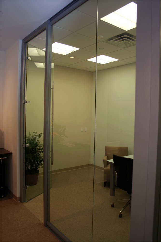 Glass office front - full height - MN