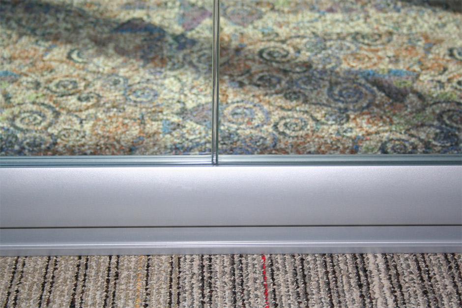 Polycarbonate glazing bead detail