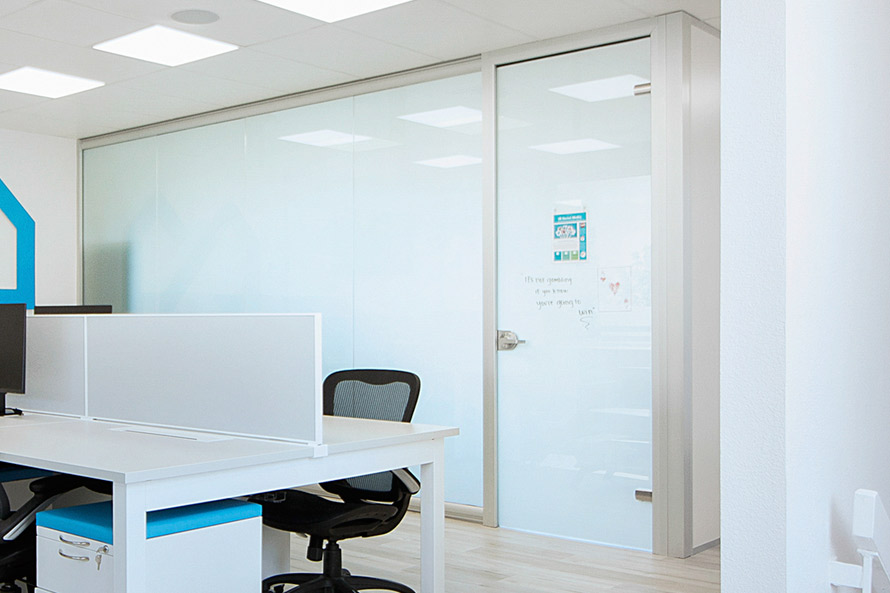 View Series Glass Office with Switchable Glass - Opaque